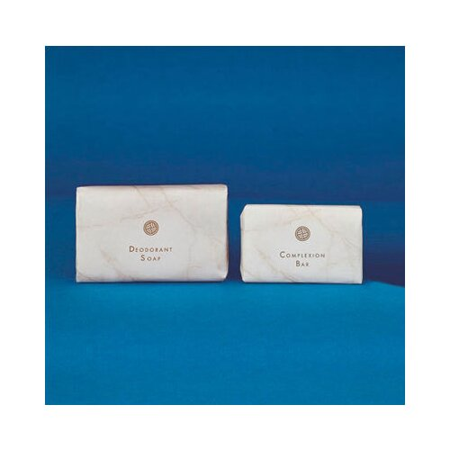 WHITE MARBLE 0.75 Oz Basics Soap Bar in White
