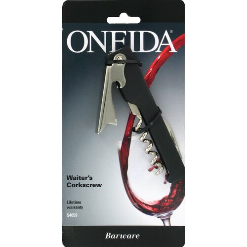 Oneida Barware Waiter's Corkscrew with Silicone Inserts