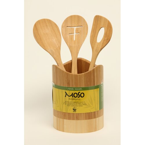 Moso Bambooware 4 Piece Utensil Set