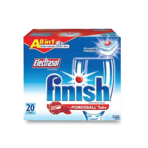 Finish Finish Powerball Dishwasher Tabs, 20/Box