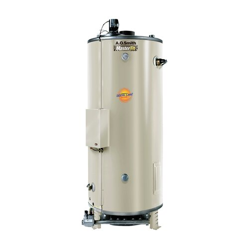 A.O. Smith Commercial Tank Type Water Heater Nat Gas 98 Gal Master-Fit 90,000 BTU Input Single Flue Model