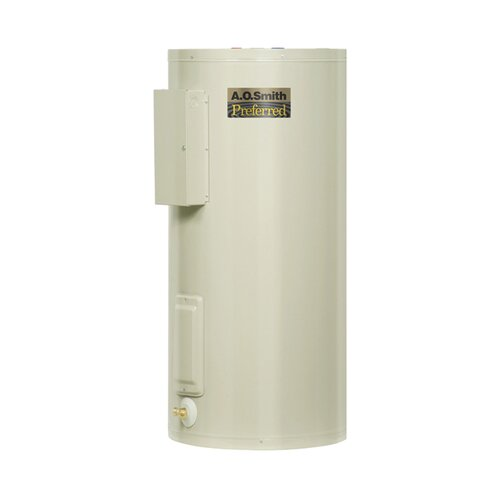 A.O. Smith Commercial Tank Type Water Heater Light Duty Electric 10 Gal Dura-Powered Preferred 6KW Input