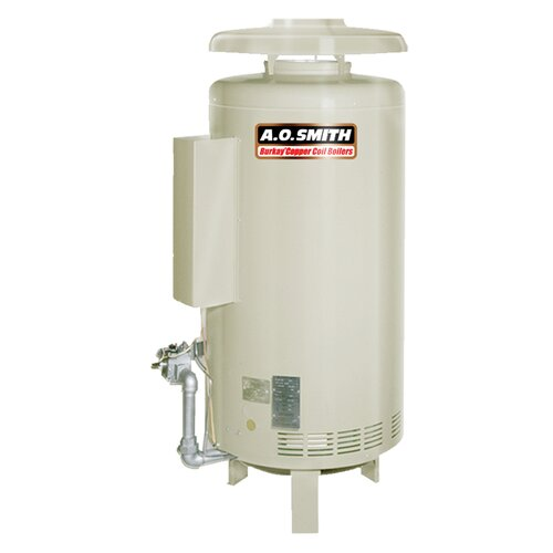 A.O. Smith HW-420 Commercial Hot Water Supply Boiler Nat Gas Burkay 420,000 BTU Input
