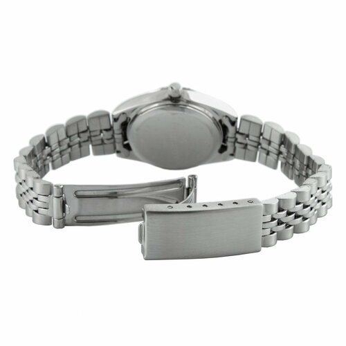 Peugeot Women's Crystal Marker Ribbed Bezel Bracelet Watch with Silver Blue Dial