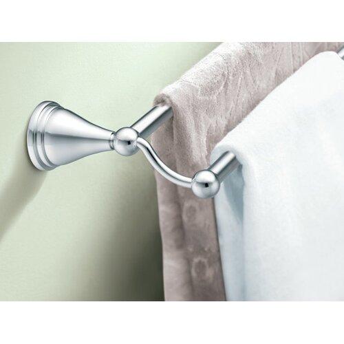"Creative Specialties by Moen Preston 26.12"" Wall Mounted Double Towel Bar"