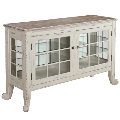 Gail's Accents Cottage Curio Console
