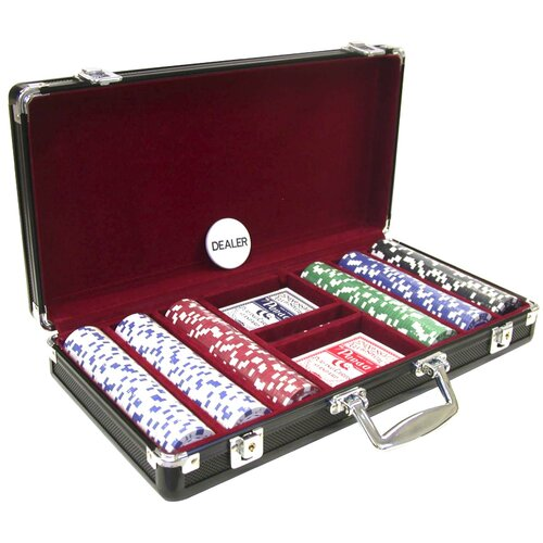 CHH 300 Piece 11.5g Poker Set with Black Aluminum Case