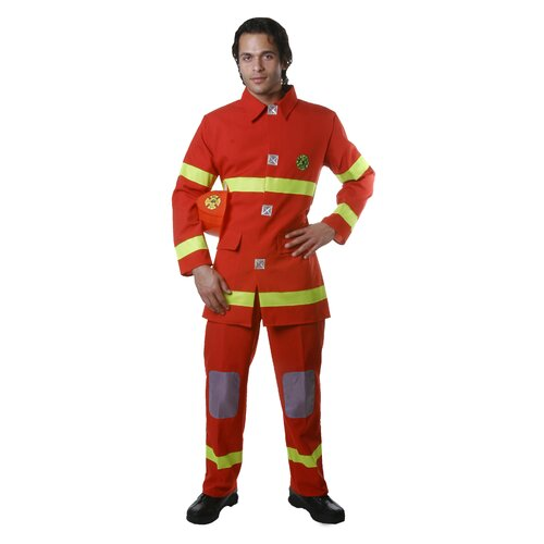 Dress Up America Adult Fire Fighter in  Red