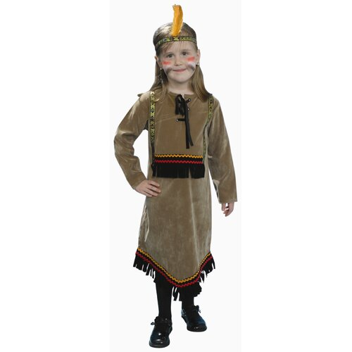 Deluxe Indian Girl Children's Costume Set