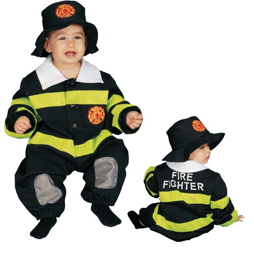 Dress Up America Baby Fire Fighter Costume Set