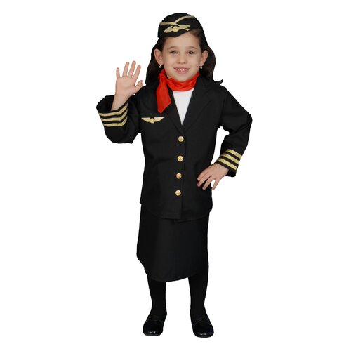 Flight Attendant Children's Costume Set for Girls