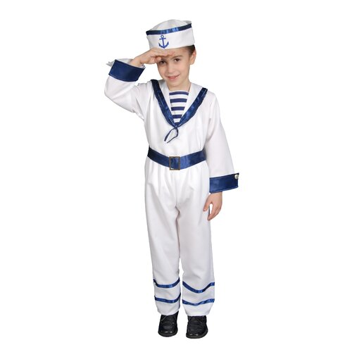 Dress Up America Deluxe Sailor Boy Children's Costume Set