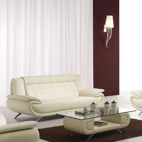 Curve Leather Sofa