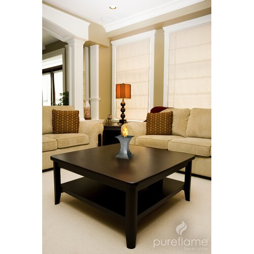 PureFlame Concave Table Tabletop Fireplace
