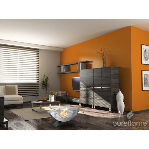 PureFlame Half Ellipse Table Top Fireplace