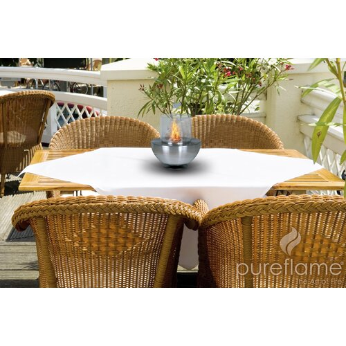 PureFlame Spherical Glass Tabletop Fireplace