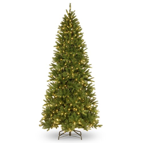 9' Green Fir Artificial Christmas Tree with 600 LED White Lights and Stand