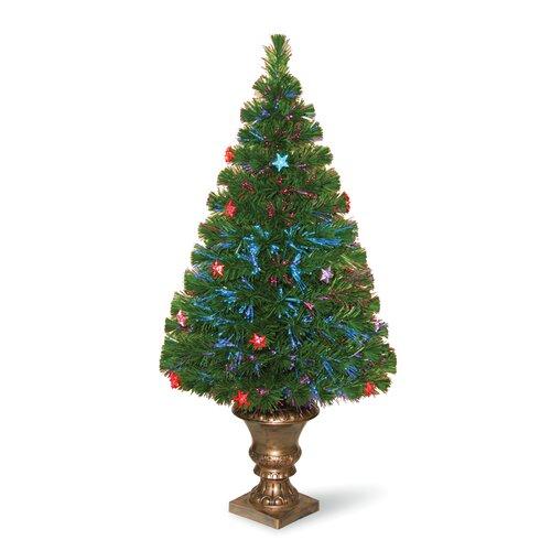 National tree co evergreen green fiber optic fireworks