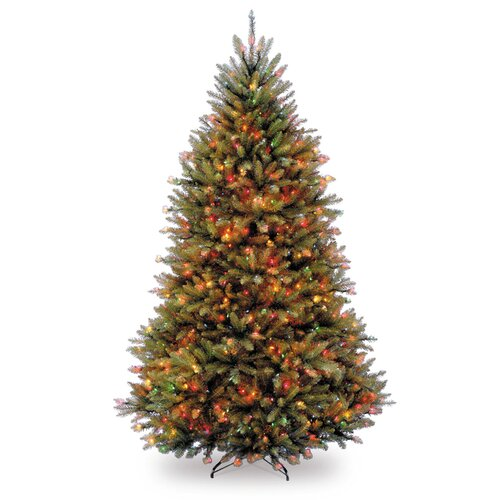 National Tree Co. Dunhill Fir 6.5' Green Artificial Christmas Tree with Multi-Colored Lights