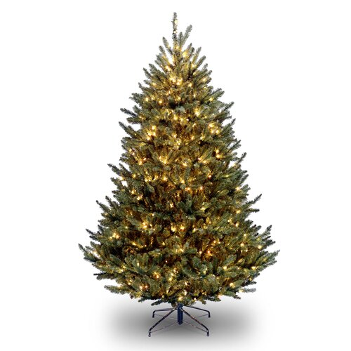 National Tree Co. Natural Fraser 7.5' Green Medium Fir Artificial Christmas Tree with 1000 Pre-Lit Clear Lights with Stand