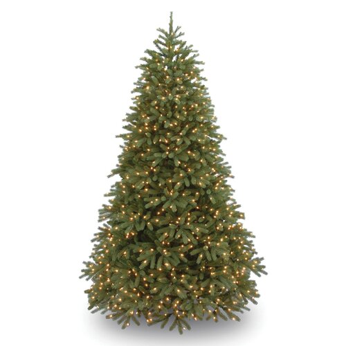 National Tree Co. Jersey Fraser Fir 7.5' Green Medium Artificial Christmas Tree with 1000 Pre-Lit Clear Lights with Stand