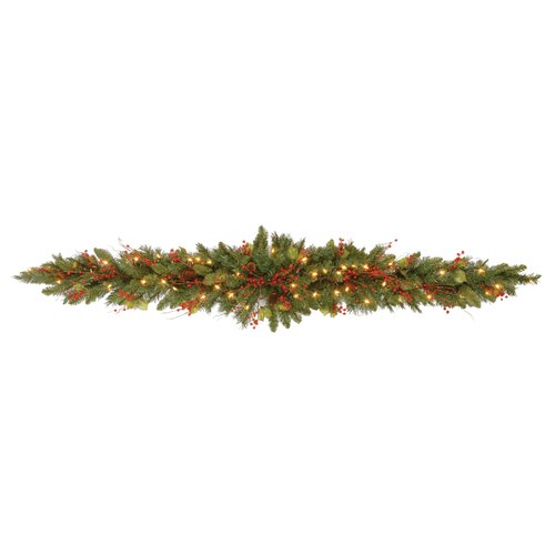 National Tree Co. Pre-Lit 6' Classical Mantel Swag