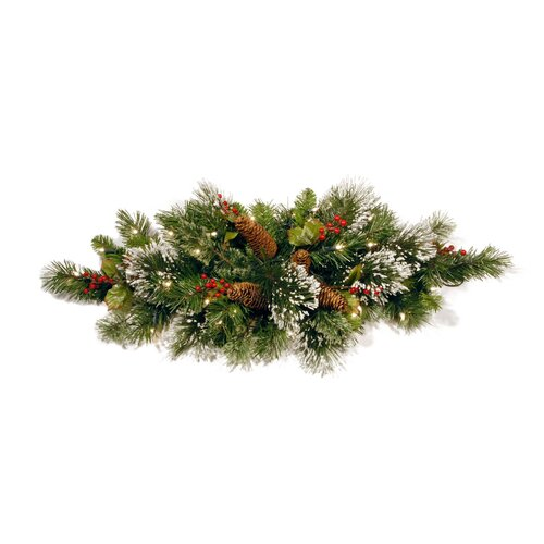 National Tree Co. Wintry Pine Pre Lit Tablepiece