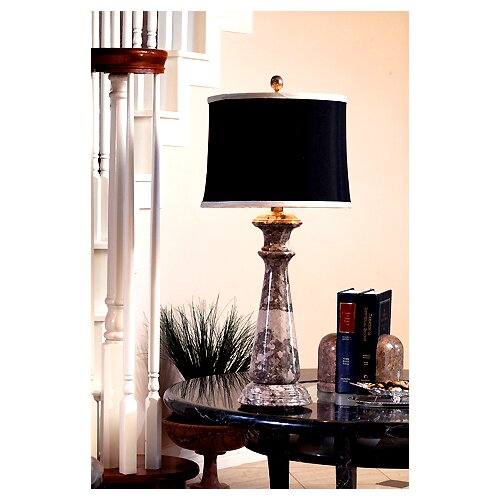 """Lex Lighting Taupe Gray Marble 32"""" H Table Lamp"""