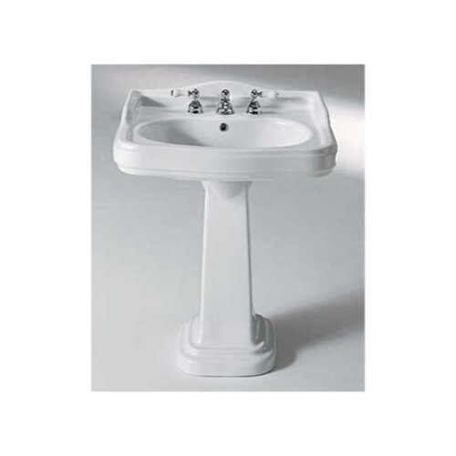 GSI Collection Old Antea Classic Style Curved Ceramic Pedestal Sink