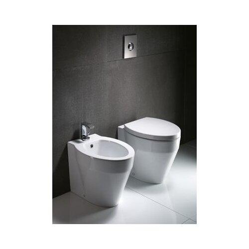 GSI Collection Losagna Contemporary Ceramic Floor Round 1 Piece Toilet