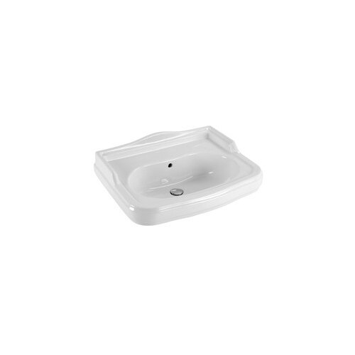 Antea Classic Style Curved White Ceramic Wall Mounted Bathroom Sink