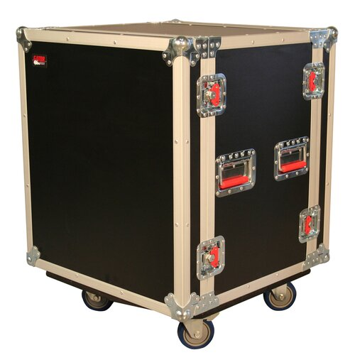 Gator Cases Shock Audio Road Rack Case with Casters