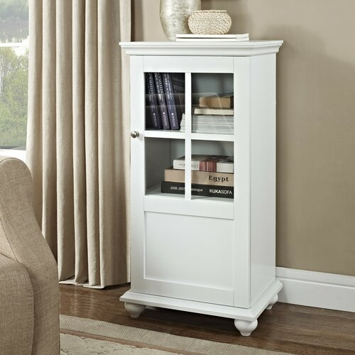 altra reese park storage cabinet with glass door amp reviews