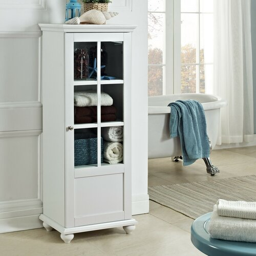 Altra reese park storage cabinet with glass door amp reviews wayfair