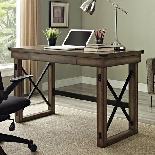 Altra Wildwood Writing Desk With Metal Frame Amp Reviews