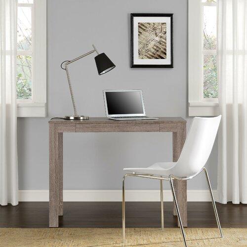 parsons computer desk with drawer wayfair supply. Black Bedroom Furniture Sets. Home Design Ideas