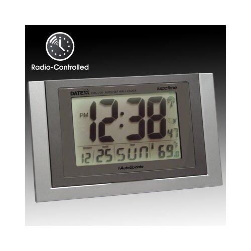 Radio Control Wall Clock with Calendar, Temperature