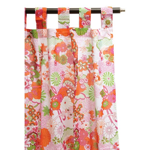 Karma Living Printed Garden Tab Top Window Curtain Single Panel