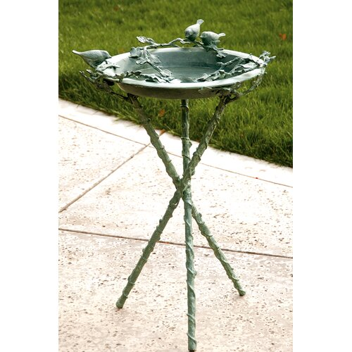 SPI Home Love Birds and Branch Birdbath