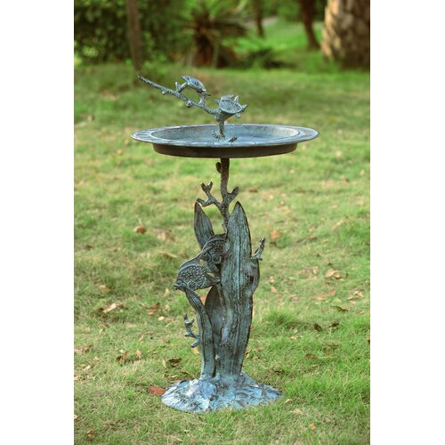 SPI Home Turtle and Fish Sundial/Birdbath