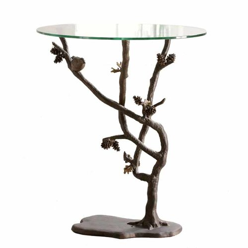 SPI Home Bird and Pinecone End Table