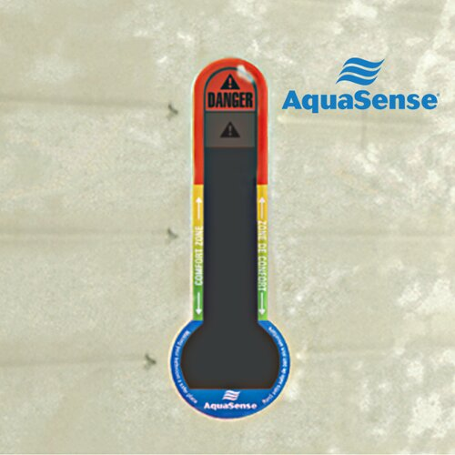 Aquasense Non-Slip Bath Mat with Built-In Temperature Indicator
