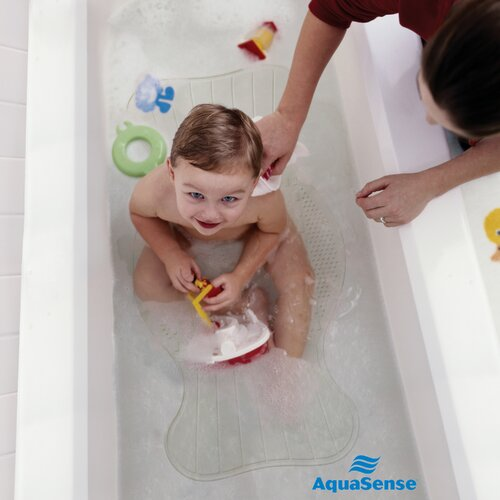 Aquasense Small Non-Slip Bath Mat with Invigorating Massage Zones