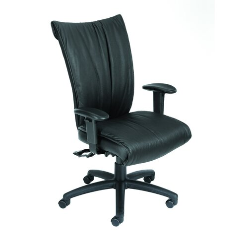 Boss Office Products High-Back LeatherPlus Office Chair