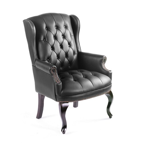 Boss Office Products Guest Office Chair with Brass Head Trim