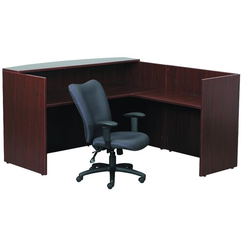 "Boss Office Products Reception 42"" W Desk Return"