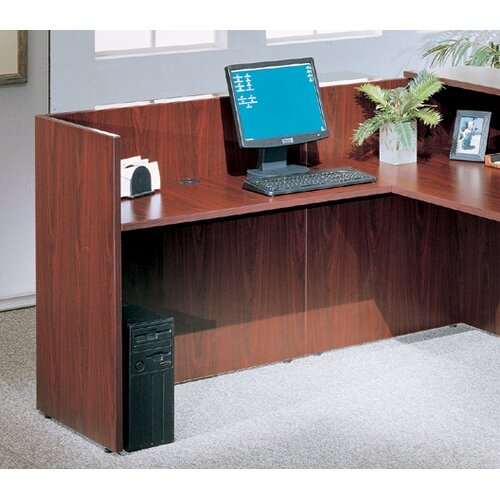 Boss Office Products L-Shape Reception Desk Office Suite