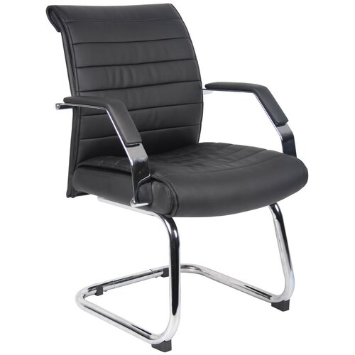 Boss Office Products Guest Chair with Ribbed Back