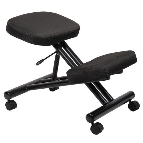 Boss Office Products Low Back Height Adjustable Kneeling Drafting Chair with Casters