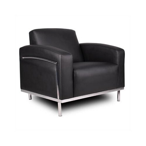 Boss Office Products Lounge Chair with Chrome Frame